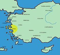 Asia Menor (Región de Jonia) Las colonias griegas en Jonia (costa griega de Asia Menor) conquistadas por los Persas.