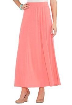 Cato Fashions Solid Panel Maxi Skirt CatoFashions