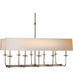 Visual Comfort E.F. Chapman Branched 10 Light Linear Pendant in Antique Nickel SL5863AN-NP2 #visualcomfort