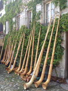 Alpenhorns in Gruyere