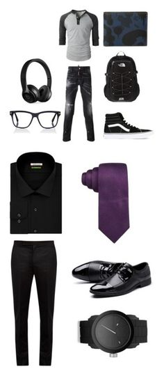 """""""Ryan's outfit"""" by chibisoulevens on Polyvore featuring Dsquared2, Vans, The North Face, Coach, Tom Ford, Beats by Dr. Dre, men's fashion, menswear, Van Heusen and Maison Margiela"""