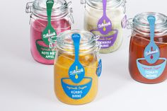 cute jar labels | Schmeck by Alexander Stöckel, via Behance