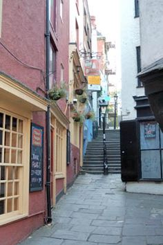 Christmas Steps, Bristol City Centre (looks like something out of a Harry Potter film)