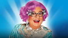 By her own admission, Dame Edna Everage is probably the most popular and gifted woman in the world!   Her Facebook page explains that she is a housewife, investigative journalist, social anthropologist, talk show host, swami, children's book illustrator, spin doctor, Megastar, and Icon.   #barry humphries #colourful characters #dame edna everage