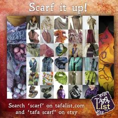 We have hundreds of beautiful handmade scarves offered by our members. This feature shows just a few of the techniques and materials used. Visit this post to learn more: http://www.tafaforum.com/tafas-gift-guide-handmade-scarves/