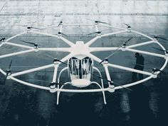 Intel's partner, Volocopter, provided its multicopter and flew it by remote control in a hangar—a baby step, but still, a first step Magnetic Levitation, Transportation Technology, Flying Car, Chief Executive, Baby Steps, Helicopters, Rafting, Taxi, Drones