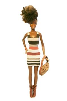 Karen Byrd, founder of Natural Girls United!, on the importance of having dolls with natural hair — from curls to afros to braids. Pretty Dolls, Beautiful Dolls, African American Dolls, African Dolls, Ethnic Hairstyles, Natural Girls, Au Natural, Black Barbie, Barbie Dolls