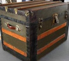 Diy Refurbished Retro Trunk Old Trunks Vintage Refinished Furniture Refinishing