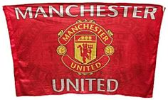 Manchester United Sublimation Flag with Club Crest