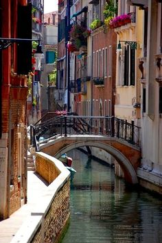 A quaint Venetian canal bridge adjacent to the Hotel al Ponte Mocenigo. Oh The Places You'll Go, Places To Travel, Places To Visit, Venice Travel, Italy Travel, Pictures Of Venice, Pictures Of Italy, Wonderful Places, Beautiful Places