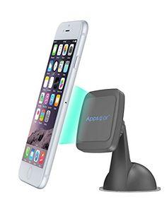 APPS2CAR Support Téléphone Ventouse Magnétique pour Pare-brise Tableau de bord Aimanté Universel Rotation 360° pour iPhone 6 plus 6S…
