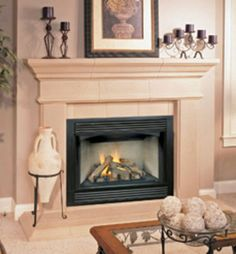 "FMI Vantage Hearth 36"" Direct Vent Gas Fireplace - Model VT32PA1 - NEW Direct Vent Gas Fireplace, Fireplace Inserts, Hearth, Interiors, Model, Furniture, Home Decor, Log Burner, Home"