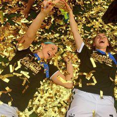 Julie Johnston, Morgan Brian, world champions. (Instagram)