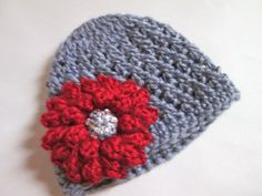Flower Hat Made to Order by ElleYarnCreations on Etsy, $19.50