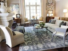 Transitional Living-rooms from Tish Mills on HGTV