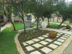 Koi, Garden Landscaping, Stepping Stones, Garden Design, Sidewalk, Patio, Landscape, Building, Places