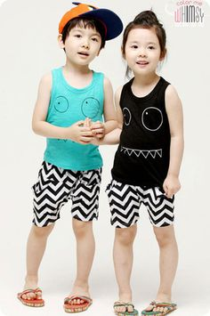 Monster Tank and Shorts Set for unisex kids fashion at colormewhimsy