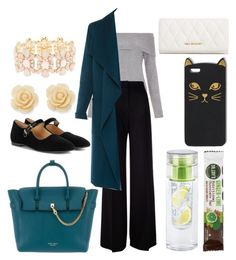 """""""Day of Meetings"""" by maeaballroomprincess ❤ liked on Polyvore featuring New Look, MaxMara, L.K.Bennett, Henri Bendel, The Row, Draper James, Charlotte Russe and Vera Bradley"""
