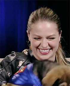 melissa benoist + puppies OHMYGOD she's literally too cute