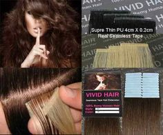 """20pcs 22"""" Inches Remy Seamless Super Thin Tape Skin Weft PU Straight Human Hair Extensions Medium Brown #4"""
