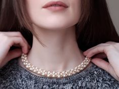 Show-stopping, handmade jewellery design Handmade Jewelry Designs, Handmade Jewellery, Sterling Silver Necklaces, Pearl Necklace, Pearls, Diamond, Fashion, Sterling Necklaces, String Of Pearls