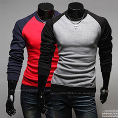 Color Contrast Men Slim Fit Fashion Tee . Shop Now At http://sneakoutfitters.com/collections/new-in/products/color-contrast-men-slim-fit-fashion-tee