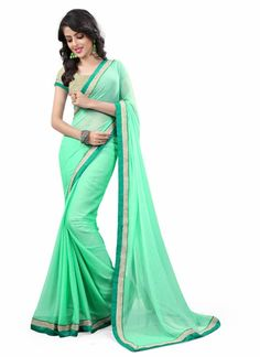 Saree collection for any women buy online. Order this georgette patch border…