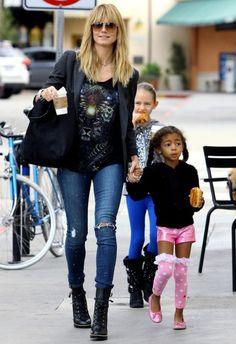 Heidi Klum wearing Siwy Ladonna Jeans in Artist