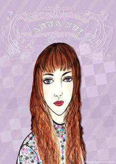 anna sui, f/w 2016, fashion illustration by bonnie.w