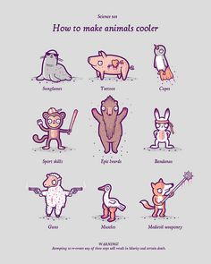 How to make animals cooler by randyotter, via Flickr