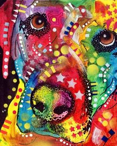 dean russo dog art | Close-up Lab Painting by Dean Russo - Close-up Lab Fine Art Prints and ...