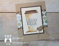 Coffee Cafe stamp set, Painted with Real Coffee