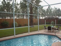 Solar heated private pool at Orlando Villa USA