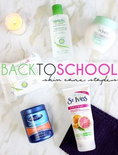 Go back to school glowing with these skin care staples. @simpleskincare Micellar Water and Micellar Make-up Remover Wipes instantly hydrate skin for a healthy-looking complexion no one will forget. via @slashedbeauty