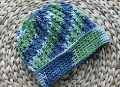 Easy Crochet Ribbed Hat Pattern