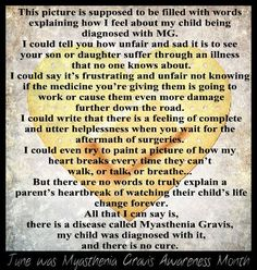 June is Myasthenia Gravis Awareness Month. But someday there will be a cure! I Love You Son, Husband Love, Muscle Diseases, Myasthenia Gravis, Anti Inflammatory Recipes, Knowledge Is Power, How I Feel, Autoimmune, Natural Healing