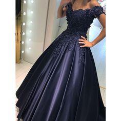 long prom dresses,ball gown prom dresses,modest prom dresses,lace prom dresses,sleeves prom dresses from DestinyDress Navy Blue Prom Dresses, Prom Dresses For Teens, Modest Dresses, Homecoming Dresses, Dress Prom, Dress Long, Formal Dresses, Quinceanera Dresses, Graduation Dresses