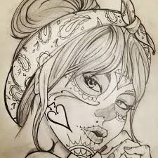 Step By Step Process To Help You Choose Your First Tattoo Design – Wrist Designs Kunst Tattoos, Body Art Tattoos, Girl Tattoos, Tatoos, Chicano Drawings, Tattoo Drawings, Sugar Skull Girl Tattoo, Sugar Skull Drawings, Sugar Skulls