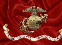 Marine Corps Eagle American Flag