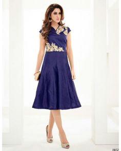 Dark Blue Georgette Dress