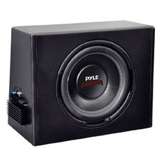"Pyle PLPR10A 10-Inch Slim Design Powered Enclosure System by Pyle. Save 59 Off!. $97.58. This slim, 10"" subwoofer bass box is perfect for your car with limited space. It's small, but it doesn't skimp on power - this model can handle up to 300 watts. The 1.5"" voice coil provides roaring bass completely free of distortion. The black poly coated cone keeps the subwoofer secure and your music sounding great. The vinyl wrapped amplified enclosure means you'll achieve a louder, more boom..."