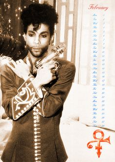 Classic Prince • 1993 Danielo Calendar FEBRUARY - Excellently scanned large format Danielo Calendar which spans Prince's Diamonds & Pearls and O(+> Album era! I didn't scan these another meticulous thoughtful fan did, I believe it was a lady by the name of 'Sahir' if I remember correctly, many thanks to that fan! INJOY! .::Modernaire 2015