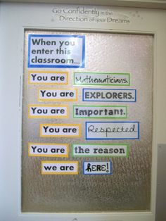 6th grade classroom decorating ideas | got an e-mail today asking for a copy of my door decoration. I ...