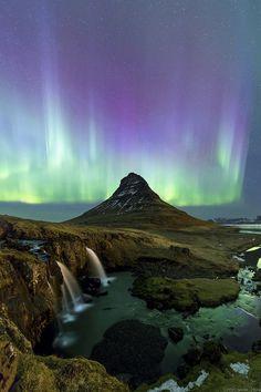 earthandanimals: Aurora@Kirkjufell byPOPUMON TiH - Iceland