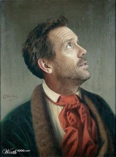 ♥ hugh laurie...these are hilarious celebs in renaissance clothing...