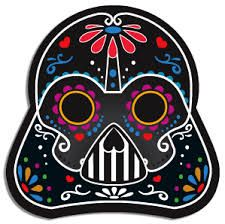 darth vader skull sticker