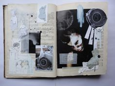 JESSICA - this example here shows the use of collage in visual journals. Sketchbook Layout, Textiles Sketchbook, Fashion Design Sketchbook, Sketchbook Pages, Kunstjournal Inspiration, Sketchbook Inspiration, Visual Diary, Art Portfolio, Fashion Portfolio