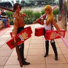 Attack on Titan pocky cosplay XD