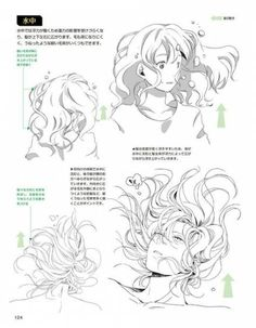41 Ideas Manga Art Sketches Anime Hairstyles For 2019 Manga Drawing Tutorials, Drawing Techniques, Art Sketches, Art Drawings, Realistic Drawings, Pencil Drawings, Underwater Drawing, Pelo Anime, Drawing Poses