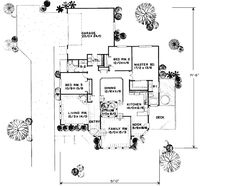 First Floor Plan of Contemporary   House Plan 91052